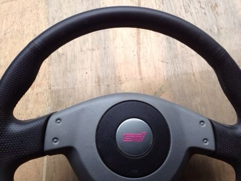 Subaru Impreza STI JDM 2004 steering wheel with airbag