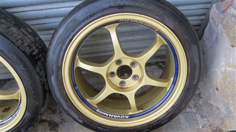 Genuine Advan Racing Rg1 Gold 5x100 Alloy Wheels With