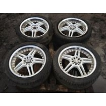 SUBARU IMPREZA TENZO R 17 ALLOY WHEELS WITH TYRES COMPLETE JDM