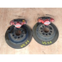 SUBARU IMPREZA WRX STI TYPE R CLASSIC REAR 2 POT CALIPERS DISCS AND PADS - JDM