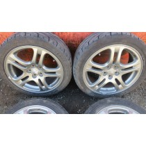 "SUBARU IMPREZA WRX NEWAGE ALLOY 17"" WHEELS 5X100 WITH GOOD TYRES- JDM"