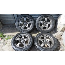 GENUINE NISSAN SKYLINE R32 GTR OEM ALLOY WHEELS WITH TYRES