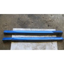 SUBARU IMPREZA STI V7 SIDE SKIRTS WITH SPATS BLUE