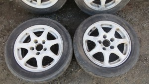 "HONDA CIVIC EK9 TYPE R GENUINE ALLOY WHEELS WITH TYRES EK4 VTI 5X114.3 12"" JDM"