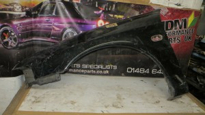 MITSUBISHI LANCER EVO 4 PASSENGER SIDE FRONT WING FENDER PANEL BLACK
