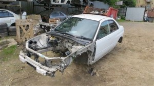 SUBARU IMPREZA STI V8 GDB TWIN SCROLL IMPORT NON ROLLING SHELL WHITE 51E